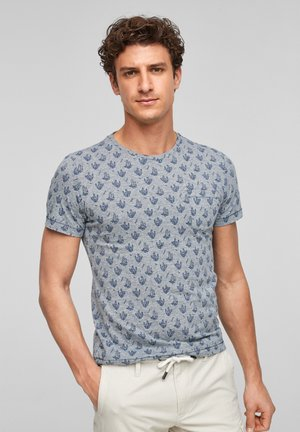 T-shirt print - blue aop