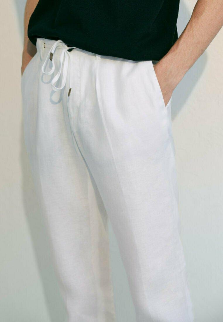 Massimo Dutti - Stoffhose - white