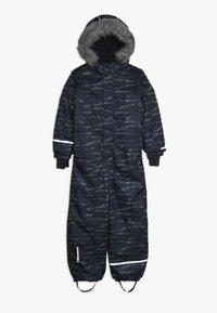 Minymo - SNOWSUIT HERRINGBONE - Mono para la nieve - ombre blue - 0