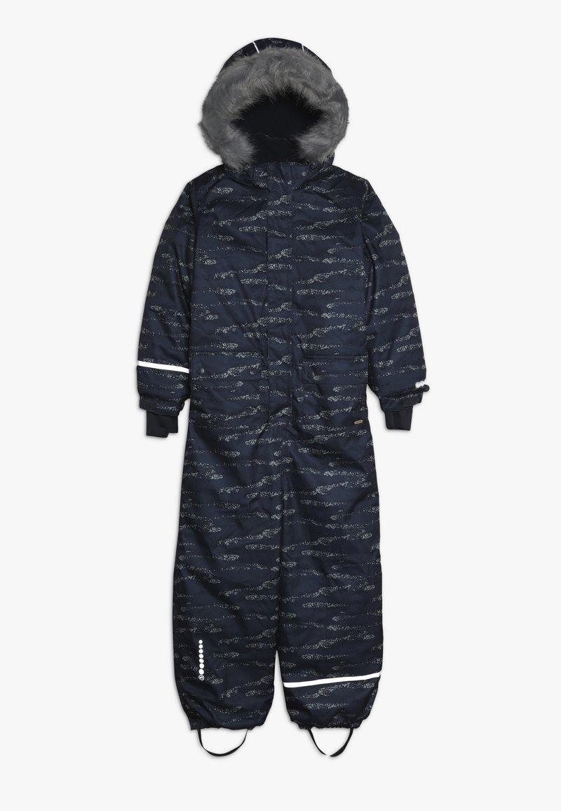 Minymo - SNOWSUIT HERRINGBONE - Mono para la nieve - ombre blue