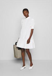 Bruuns Bazaar - FREYIE ALISE SHIRTDRESS - Shirt dress - white - 1