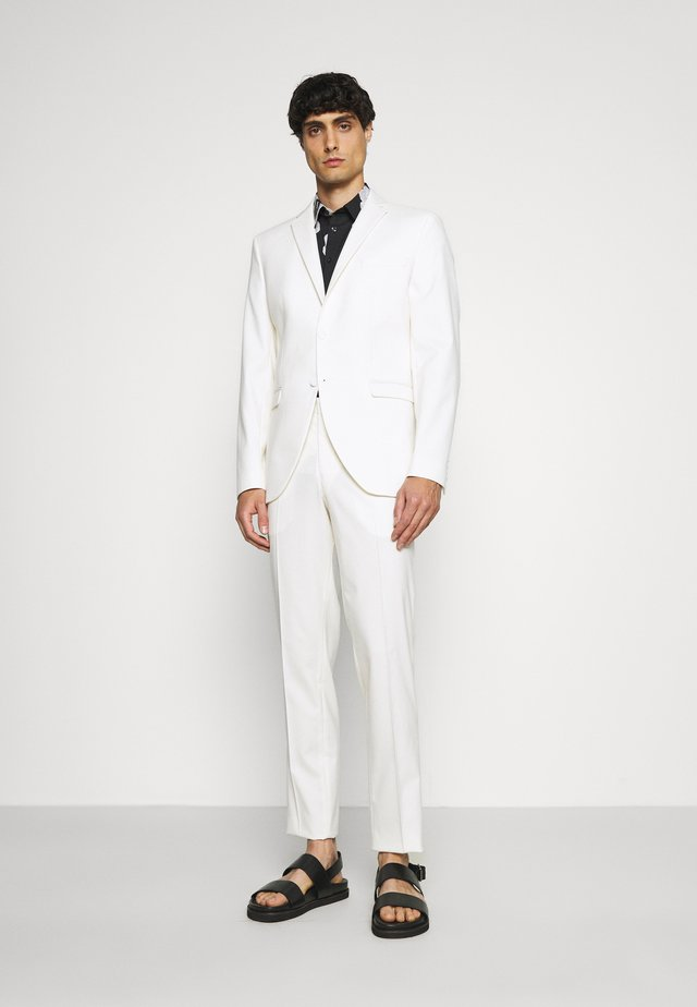 SLHSLIM MYLOLOGAN OFF SUIT SET - Traje - egret