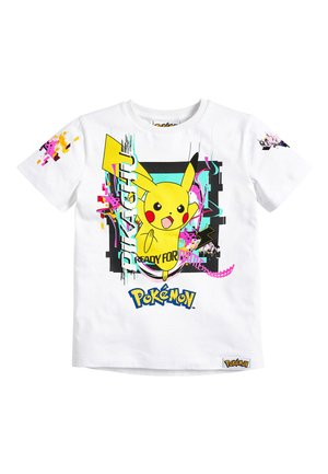 WHITE PIKACHU - Print T-shirt - white