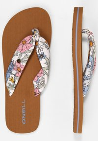 O'Neill - DITSY SUN - T-bar sandals - white all over print - 4