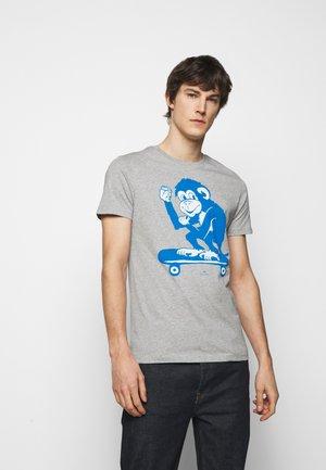 MENS SLIM FIT SKATE MONKEY - T-Shirt print - grey
