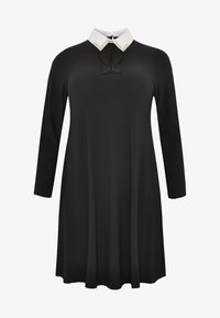 Yoek - MIT BAND-DETAIL - Day dress - black - 4