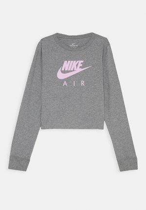 TEE AIR CROP - Topper langermet - carbon heather