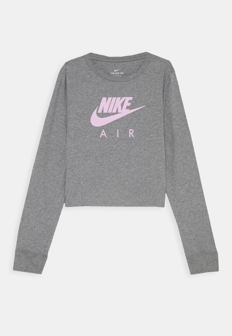 Nike Sportswear - TEE AIR CROP - Long sleeved top - carbon heather