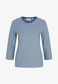 TOM TAILOR DENIM - Long sleeved top - indigo blue creme stripe - 4