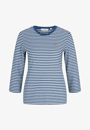 T-shirt à manches longues - indigo blue creme stripe