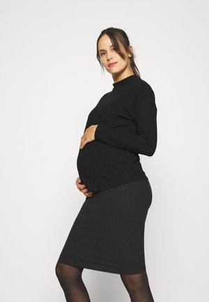 OLMGINA O NECK - Long sleeved top - black