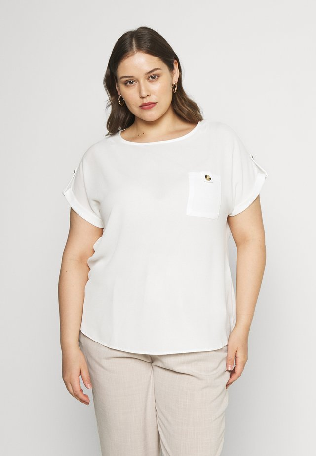 CURVE TEE - Blouse - ivory