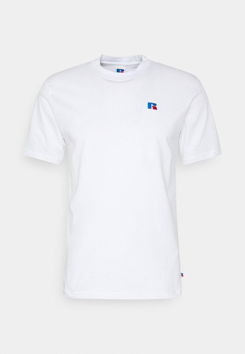 Russell Athletic Eagle R - BASELINER MEN'S ICONIC REGULAR TEE UNISEX - Print T-shirt - white