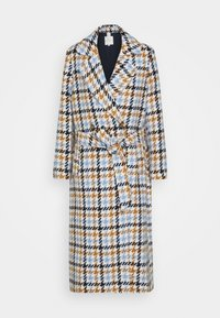 COAT HOUNDSTOOTH - Zimní kabát - light blue/camel