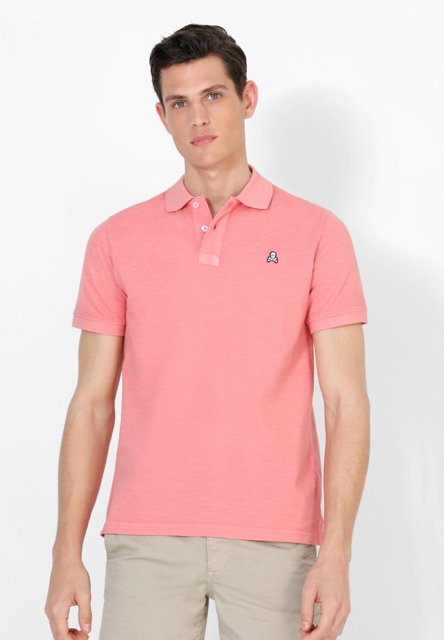 NEW SKULL PATCH  - Polo shirt - coral