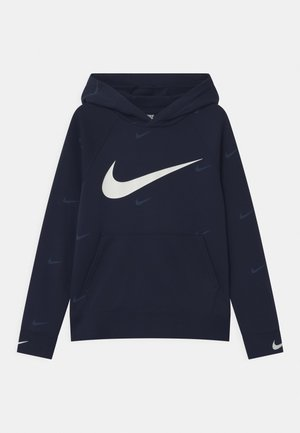 HOODED UNISEX - Huppari - midnight navy/white
