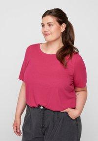 Zizzi - Basic T-shirt - pink - 0