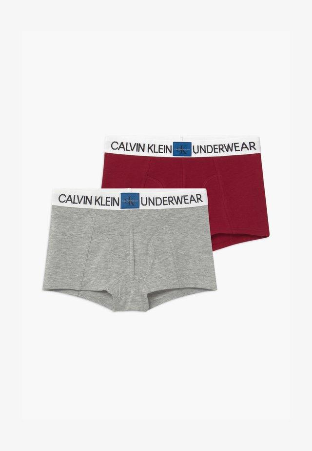 2 PACK - Pants - red/mottled grey