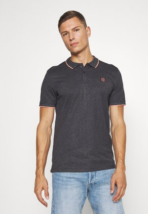 WITH TIPPING - Polo shirt - dark grey/white melange