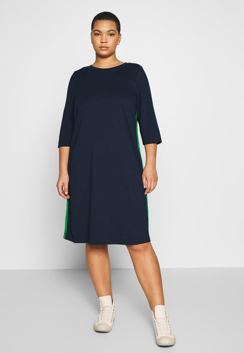 MY TRUE ME TOM TAILOR - SHIFT DRESS - Sukienka z dżerseju - real navy blue