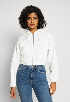 HOODED JACKET - Bomber Jacket - warm white