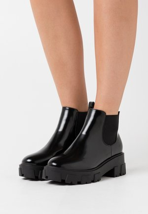 WIDE FIT LIZA - Ankle boots - black