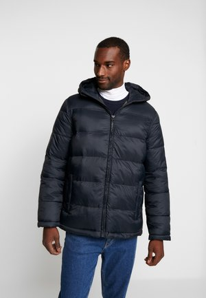 HOODED HEAVYWEIGHT PUFFER - Vinterjacka - true black