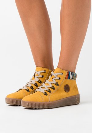 High-top trainers - honig/orange/multicolor