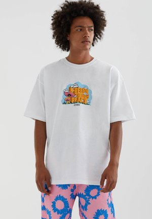 POOL PARTY - Print T-shirt - white