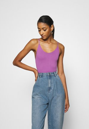 THONG STRAPPY BACK BODYSUIT - Toppe - violet