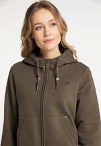 DreiMaster - Zip-up sweatshirt - militäroliv - 3