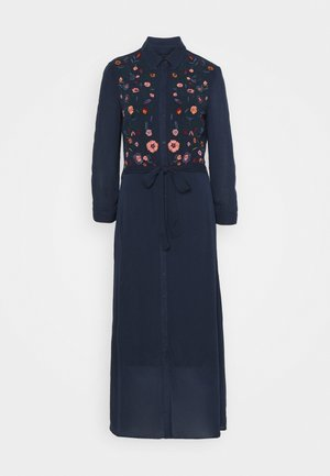 YASSAVANNA EMBROIDERY DRESS - Vestito lungo - dark sapphire