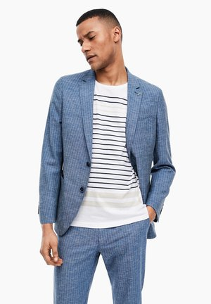 Blazer jacket - blue pin stripes