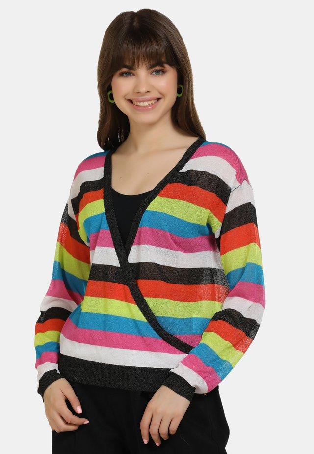 Pullover - schwarz m streifen