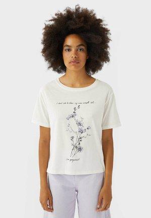 BLUMENMUSTER - Print T-shirt - white