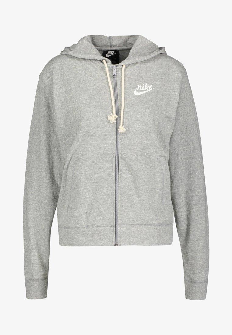 Nike Performance - GYM VINTAGE - Zip-up hoodie - grey