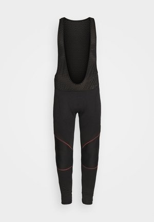 BIKE CRUISER WARM - Leggings - black/ fiesta