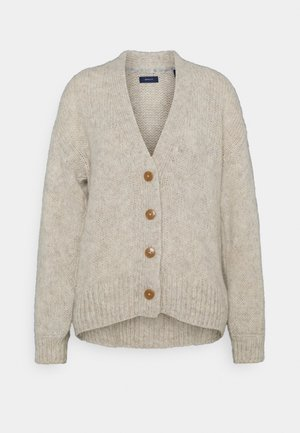 MULTI YARN CARDIGAN - Cardigan - cream