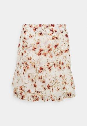 SKIRT DOUBLE LAYER BIG FLOWER - Mini skirt - multi-coloured