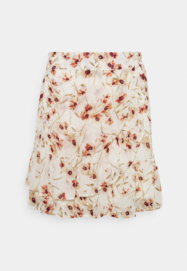 SKIRT DOUBLE LAYER BIG FLOWER - Minirok - multi-coloured