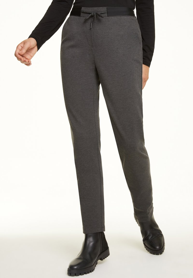comma casual identity - REGULAR FIT - Tracksuit bottoms - dark grey melange