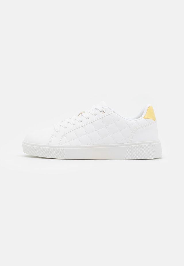 UNISEX - Sneakers basse - white/yellow