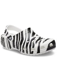 Crocs - ANIMAL PRINT  - Zuecos - white / zebra print - 1