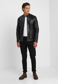 Solid - TOPPER - Veste en cuir - black - 1