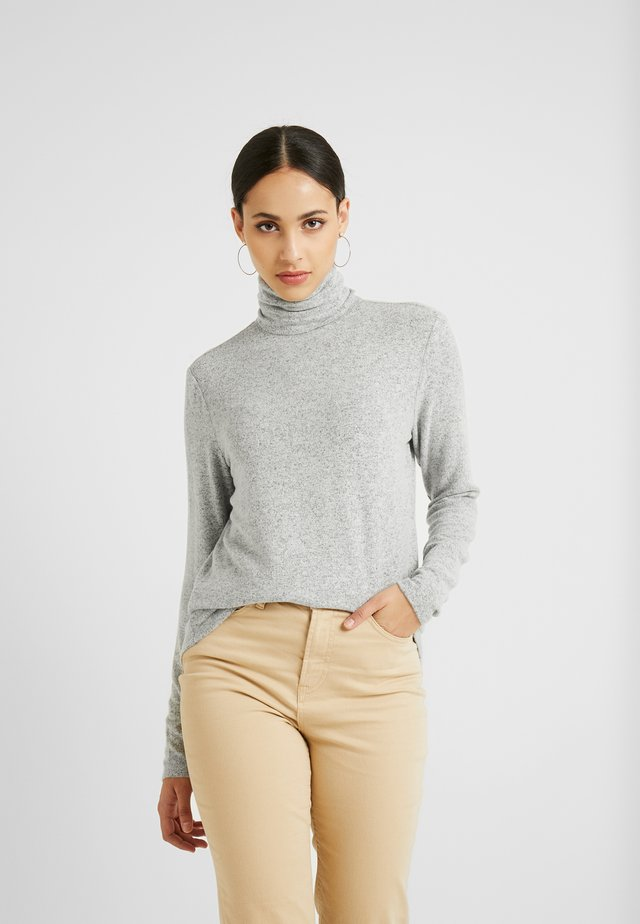 Long sleeved top - medium grey melange