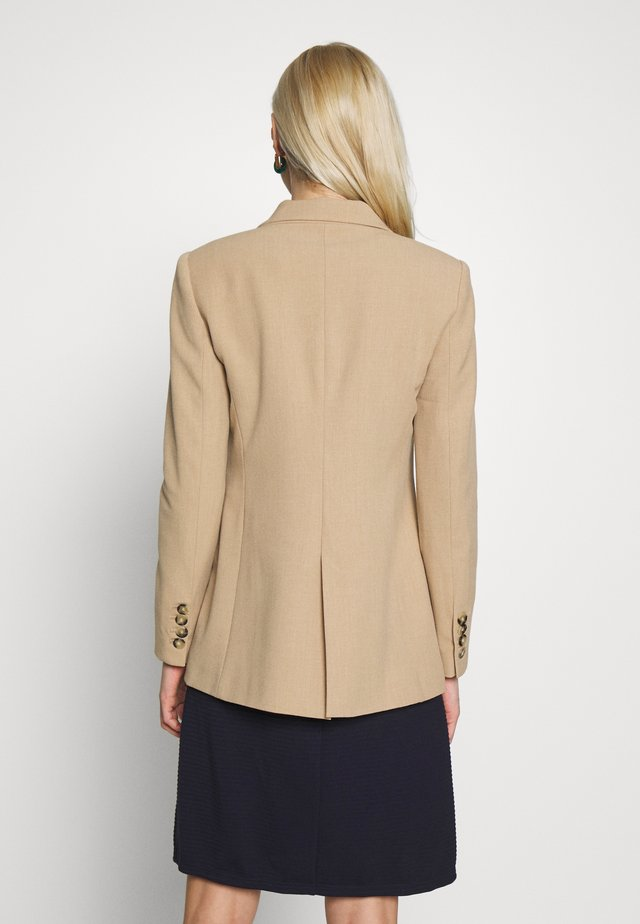 JACKET WITH CONTRAST BUTTON - Blazer - beige
