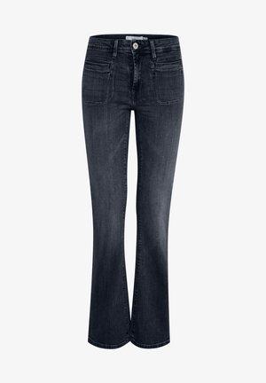IHERIN HASSE TREND - Bootcut jeans - medium blue