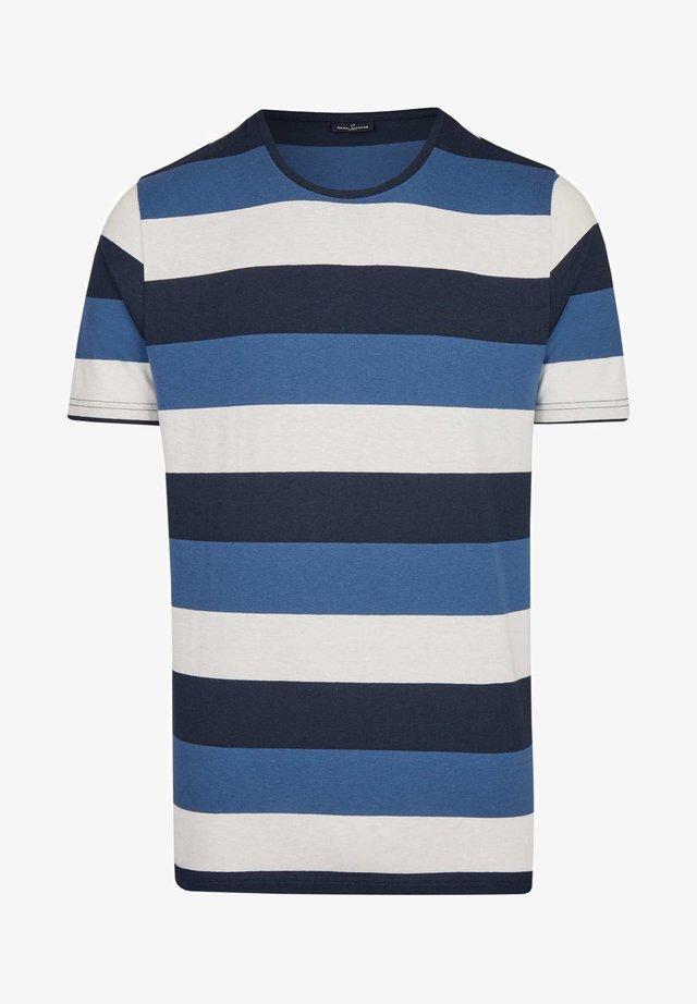 MIT RINGEL-MUSTER - Print T-shirt - dark blue