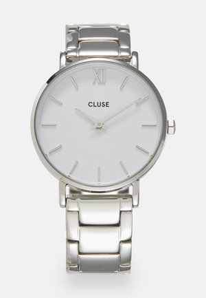 MINUIT - Watch - silver-coloured/white