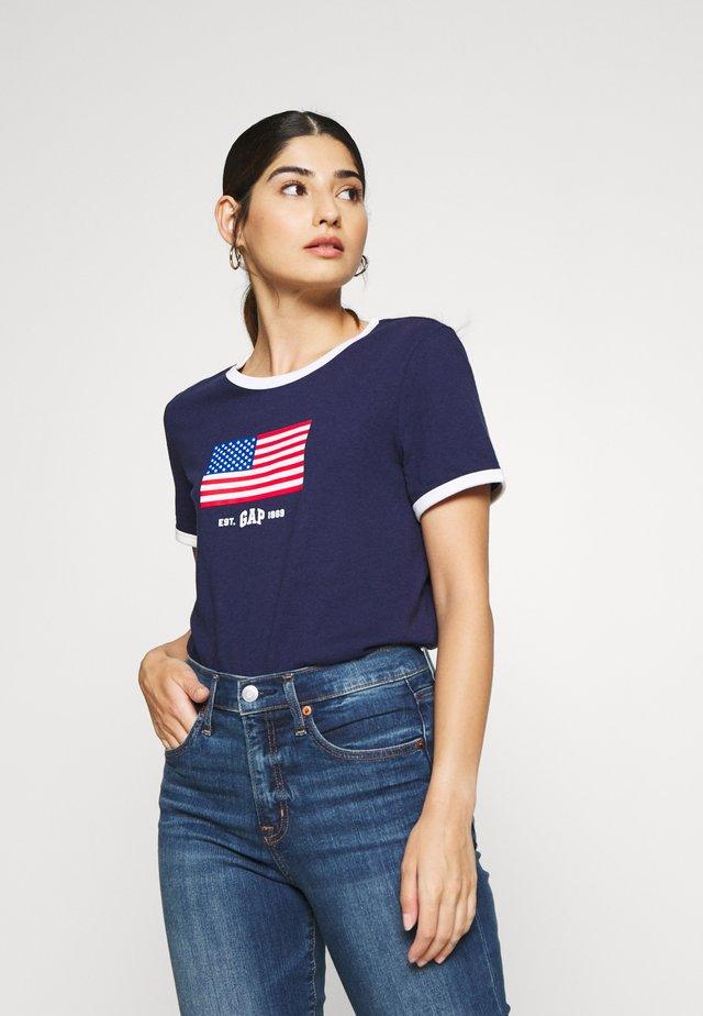 AMERICANA TEE - T-shirt imprimé - new navy